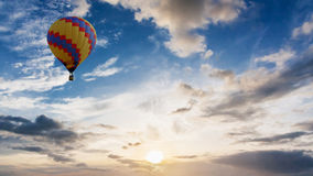 Balloon with sunrise on summer Stock Photography