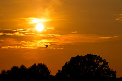 Balloon during sunset Stock Photography
