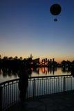 Balloon Sunset Royalty Free Stock Photography