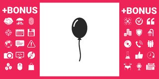 Balloon symbol icon. Element for your design Stock Images
