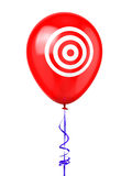 Balloon with Target Symbol Royalty Free Stock Photo