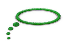 Balloon text - grass. Balloon text made with grass (3d render Stock Photos
