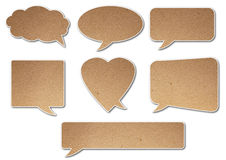 Balloon text speak. Paper texture balloon text speak Stock Photography