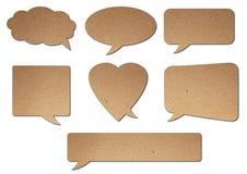 Balloon text speak. Paper texture balloon text speak Stock Photo