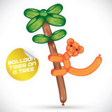 Balloon Tiger On a Tree Illustration Stock Photography