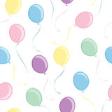 Balloon Tile. Multi colored balloons and strings in tileable pattern stock illustration