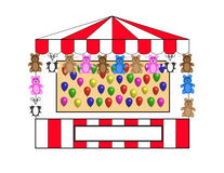 Balloon Toss W Bears Royalty Free Stock Photos