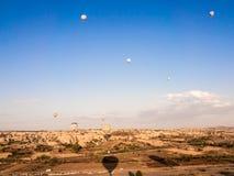 Balloon tour in Goreme. Royalty Free Stock Photography