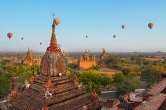 Balloon travel in Bagan, Myanmar Royalty Free Stock Photography
