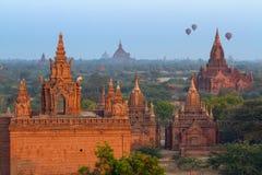 Balloon travel in Bagan, Myanmar Stock Images