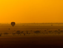 The balloon travels Stock Photography