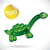 Balloon Turtle Illustration Royalty Free Stock Photo