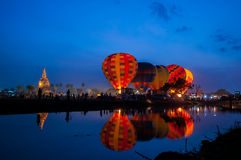 Balloon twilight. Royalty Free Stock Image