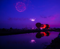 Balloon twilight. Royalty Free Stock Photo