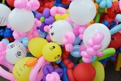 Balloon twisting art children workshop. Colorful stock Royalty Free Stock Photo