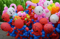 Balloon twisting art children workshop Stock Photos