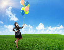 With balloon under sunny Royalty Free Stock Images