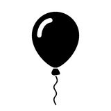 Balloon vector icon Royalty Free Stock Photo