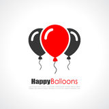 Balloon vector logo. Rubber round balloons vector logo Stock Illustration