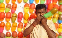The Balloon vendor Royalty Free Stock Photography