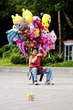 Balloon vendor in Taipei,Taiwan,May 18 Royalty Free Stock Photos