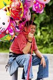 Balloon vendor in Taipei,Taiwan,May 18 Royalty Free Stock Images