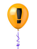 Balloon with warning symbol Royalty Free Stock Image