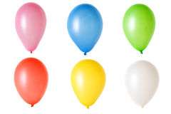 Balloon on White. Set of colorful party balloons isolated over a white background royalty free stock images