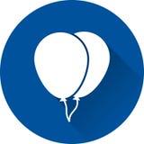 Balloon white icon. Vector illustration. Royalty Free Stock Photography