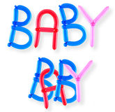 Balloon word baby Royalty Free Stock Images