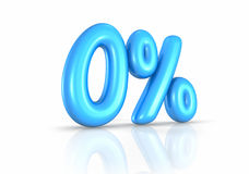 Balloon Zero Percent. Isolated on white background. 0 Stock Image