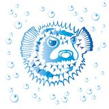 balloonfish royaltyfri illustrationer