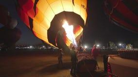 Ballooning έναρξη μπαλονιών ζεστού αέρα απόθεμα βίντεο
