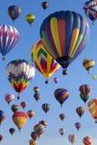 Ballooning do ar quente Imagens de Stock