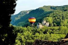 Ballooning in Dordogne royalty-vrije stock afbeelding