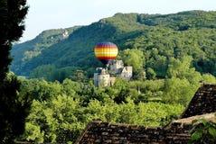 Ballooning in Dordogne royalty-vrije stock foto's