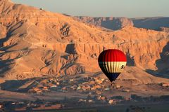 Ballooning in egypt Stock Image