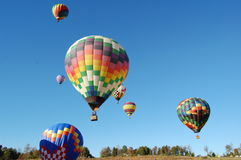 Ballooning. Festival over blue sky royalty free stock image