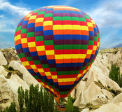 Ballooning fly over Cappadocia Royalty Free Stock Photography