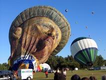 Ballooning in Gatineau Canada, Noord-Amerika royalty-vrije stock afbeeldingen