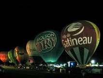 Ballooning in Gatineau. Canada, north America. Ballooning in Gatineau. Canada north America royalty free stock photo