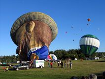 Ballooning in Gatineau. Canada, north America. Ballooning in Gatineau. Canada north America royalty free stock images