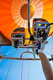 Ballooning with a hot air Balloon. In Germany royalty free stock photography