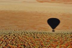 Ballooning (il Namibia) Fotografie Stock Libere da Diritti