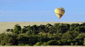 Ballooning la savanna Immagine Stock