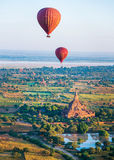 Ballooning over Bagan Royalty Free Stock Photo