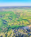 Ballooning over Israel - bird's eye view of Israel after the rai Royalty Free Stock Image
