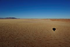 Ballooning over the Namib Desert (Namibia) stock photography