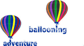 Ballooning sign Royalty Free Stock Photography