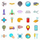 Balloonist icons set, cartoon style. Balloonist icons set. Cartoon set of 25 balloonist icons for web isolated on white background Stock Image